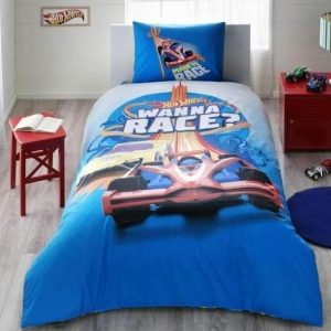 купить Подростковое постельное белье TAC Disney Hot Wheels Rase Голубой фото