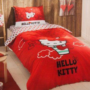 купить Подростковое постельное белье TAC Disney Hello Kitty Bow Красный фото
