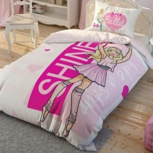 купить Подростковое постельное белье TAC Disney Barbie Ballet Розовый фото