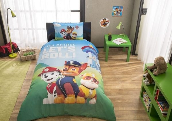 купить Подростковое постельное белье TAC Disney Paw Patrol Зеленый фото