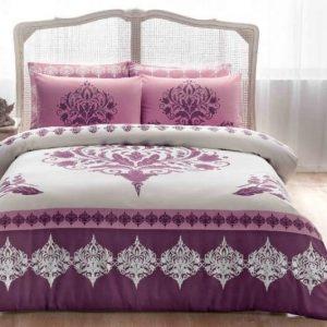 купить Постельное белье TAC сатин Venna V05 murdum Фиолетовый фото