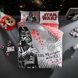купить Подростковое постельное белье TAC Звездные Войны Star Wars Valentin Серый фото