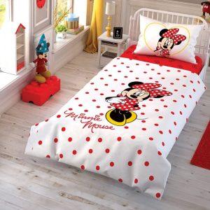 купить Подростковое постельное белье TAC Disney Minnie Cek Красный фото