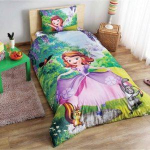 купить Постельное белье TAC Disney Sofia Forest (простынь 180*260 см) Зеленый фото