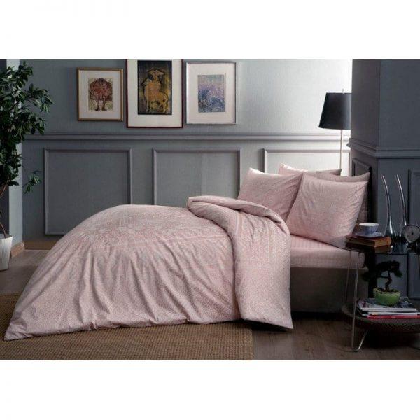 купить Постельное белье TAC сатин Fabian V52 pembe Розовый фото