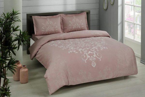 купить Постельное белье TAC сатин Anissa V05 gul kurusu Розовый фото