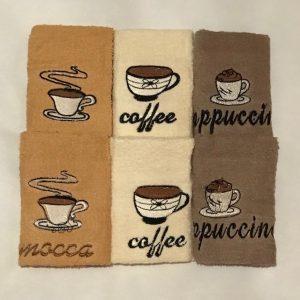 купить Набор кухонных полотенец Sikel Coffee PVC V3 (6 шт.)