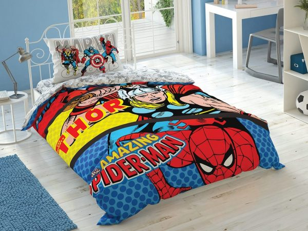 купить Подростковое постельное белье TAC Disney Marvel Comics Красный фото