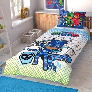 купить Подростковое постельное белье TAC Disney PJ Masks Cek Синий фото