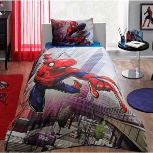 купить Подростковое постельное белье TAC Disney SpiderMan Action Красный фото