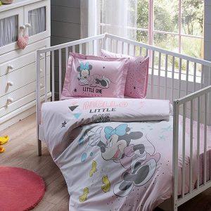купить Постельное белье для новорожденных TAC Disney Minnie Bubble Baby Розовый фото