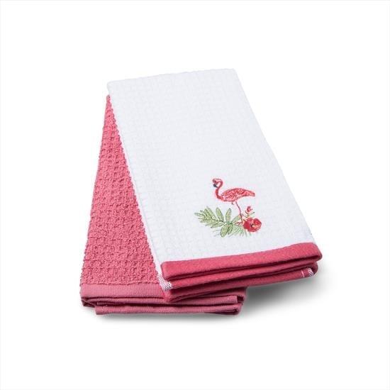 купить Набор кухонных полотенец TAC Flamingo (2 шт)