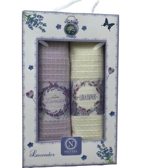купить Набор кухонных полотенец Nilteks 3D Lavender (2 шт)