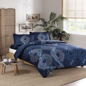 купить Постельное белье TAC сатин Paloma V02 lacivert Синий фото