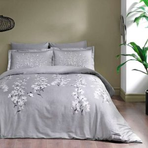 купить Постельное белье TAC сатин Ronna V02 gri Серый фото