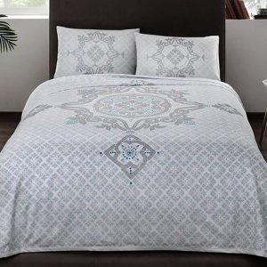 купить Постельное белье с пике TAC Elegance V02 turkuaz Голубой фото