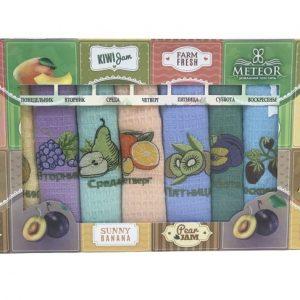 купить Набор кухонных полотенец Meteor Неделя Fruits плитка V1 (7 шт)
