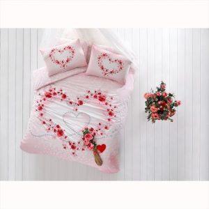 купить Светящееся постельное белье TAC Любовь Glow Beautiful V01 Розовый фото