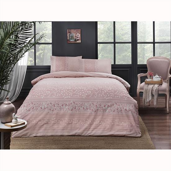купить Постельное белье TAC ранфорс Leona V02 Розовый фото
