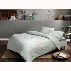 купить Постельное белье TAC ранфорс Tiana V05 Зеленый фото