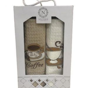 купить Набор кухонных полотенец Nilteks Coffe Coffe V01 (2 шт)