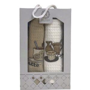 купить Набор кухонных полотенец Nilteks Latte Coffe V01 (2 шт)