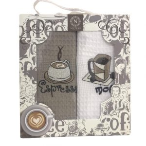 купить Набор кухонных полотенец Nilteks Coffee Series V01 (2 шт)