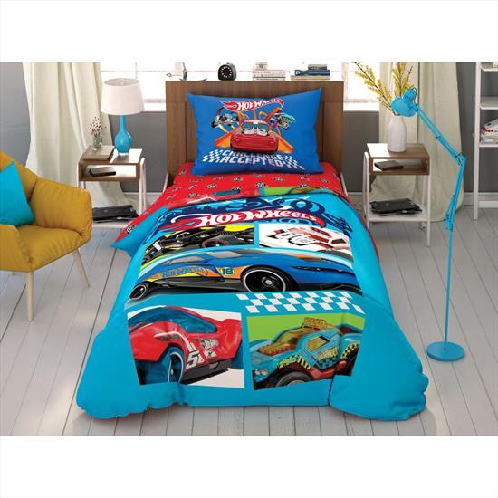 купить Подростковое постельное белье TAC Disney Hot Wheels Challenge Accepted Синий фото