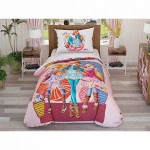купить Подростковое постельное белье TAC Disney Winx Flowers Розовый фото