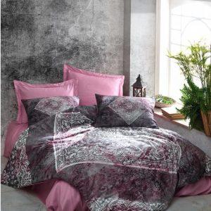 купить Постельное белье Cotton Box Dijital Saten Lanza Gulkurusu Розовый фото