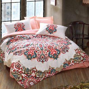 купить Постельное белье Cotton Box Orient Harsa Pudra Розовый фото