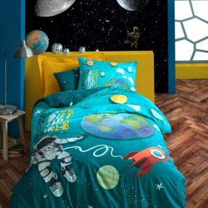 купить Постельное белье Cotton Box Little Astronaut Бирюзовый фото