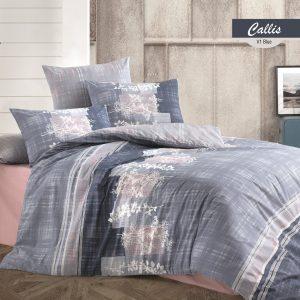купить Постельное белье Majoli Callis v1 Blue Серый фото