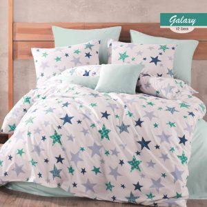 купить Постельное белье Majoli Galaxy v2 Green Бирюзовый фото