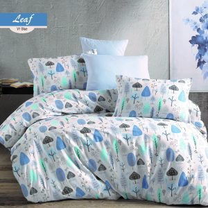 купить Постельное белье Majoli Leaf v1 Blue Голубой фото