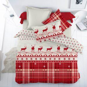 купить Новогоднее постельное белье Majoli Santa v2 Red Красный фото