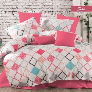 купить Постельное белье Majoli Sion v1 Fusya Розовый фото