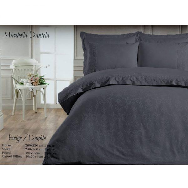 купить Постельное белье Maison Dor - MIRABELLA DANTELA ANTRASIT Серый фото