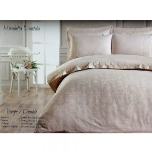 купить Постельное белье Maison Dor - MIRABELLA DANTELA BEJ Бежевый фото