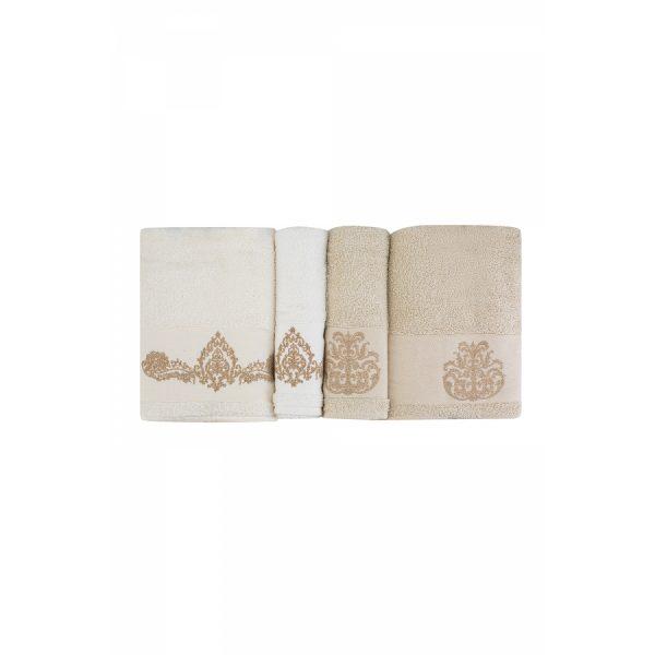 купить Набор полотенец Karaca Home - Eldora offwhite-bej 2020-1