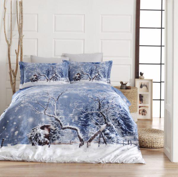 купить Постельное белье First Choice vip сатин 3d 200х220 snow Голубой фото