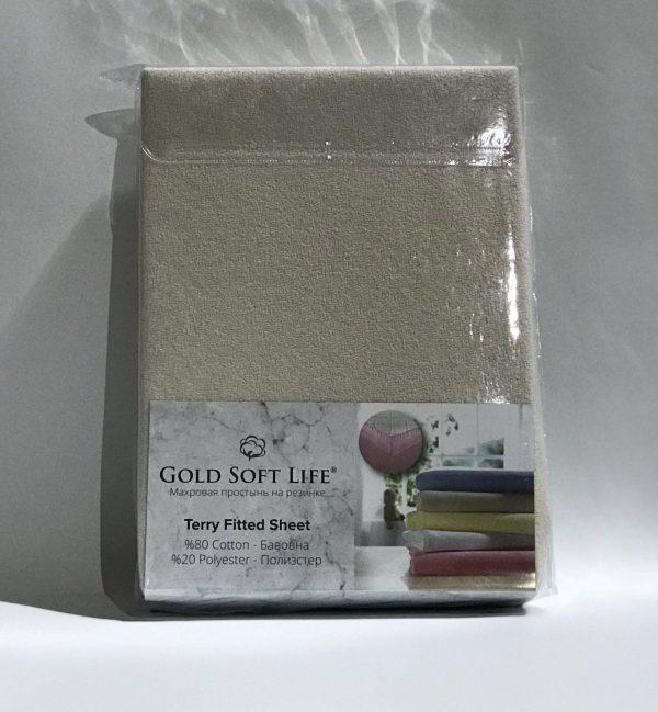 купить Простынь махровая на резинке Gold Soft Life Terry Fitted Sheet g