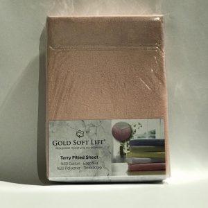 купить Простынь махровая на резинке Gold Soft Life Terry Fitted Sheet беж