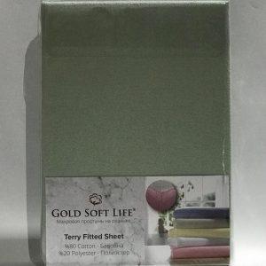 купить Простынь махровая на резинке Gold Soft Life Terry Fitted Sheet Зеленый