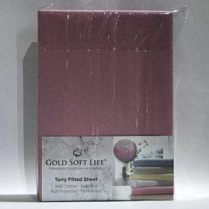 купить Простынь махровая на резинке Gold Soft Life Terry Fitted Sheet сирен