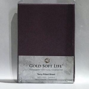купить Простынь махровая на резинке Gold Soft Life Terry Fitted Sheet purple
