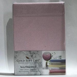 купить Простынь махровая на резинке Gold Soft Life Terry Fitted Sheet lila