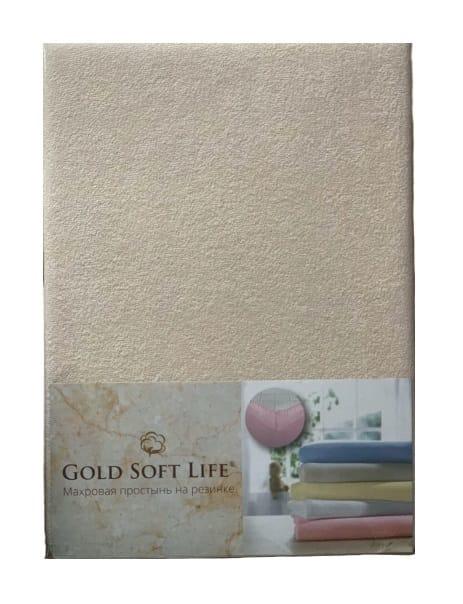 купить Простынь махровая на резинке Gold Soft Life Terry Fitted Sheet бежевый
