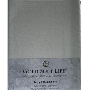 купить Простынь махровая на резинке Gold Soft Life Terry Fitted Sheet grey