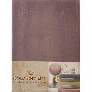 купить Простынь трикотажная на резинке Gold Soft Life Terry Fitted Sheet Сиреневый